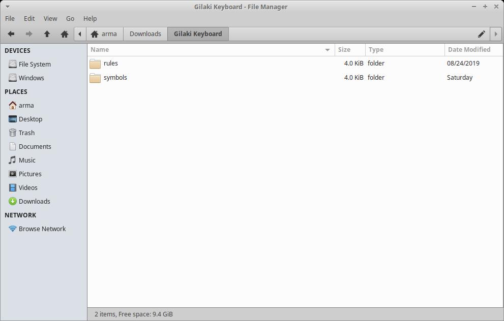 پنجره لینوکس